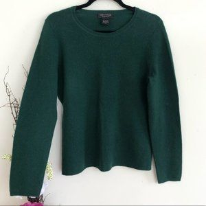 Lord & Taylor 100% cashmere sweater dark green